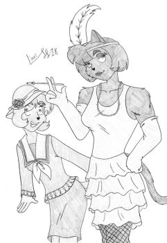 1920's Catgirls by Limpurtikles
