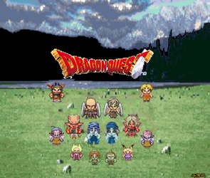 Dragon quest sprites by Kyotita