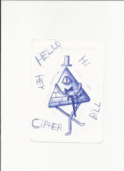 Draw Bill Cipher with the tip of a pen i found #4 by M1ntGr33n