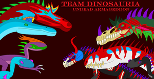 Team Dinosauria: Undead Armaggedon Poster by EliteRaptor2015