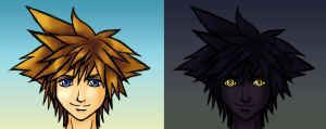 Sora and Antiform Sora by Aureawolf