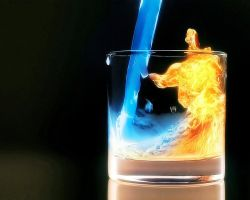 A glass of Water nd Fire by harrykrizz