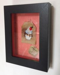 Cherry Cream Cup Cake Embroidered on a Tea Bag. by silverscape