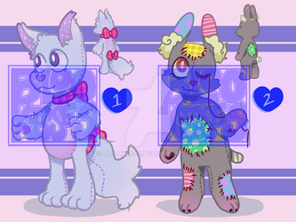 Stuffed Animal Adoptss 1 and 2 [OPEN] by BlooKisses