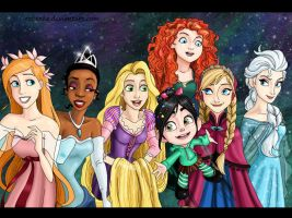 The girls of the new generation Disney by rebenke