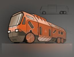 Space Bus by ivangraphics