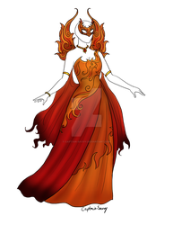 Fire and Flame Dress Adopt SOLD by Captain-Savvy