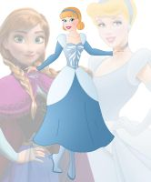 disney fusion: Anna and Cinderella by Willemijn1991