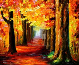 Mystery Alley by Leonid Afremov by Leonidafremov