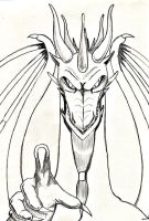 dragon for kitsunia to color by belovedfamous