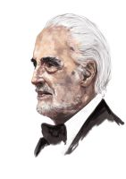 Christopher Lee with speed paint Vid by minoanoa