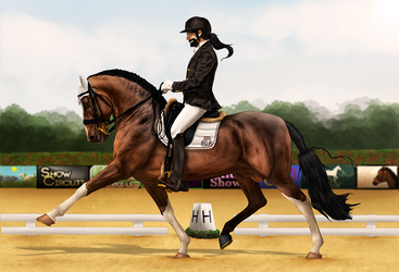 ~AUSE Qualifier Two - Dressage~ by CalyArt