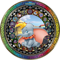 Masterpiece Dumbo Stained Glass by Maleficent84