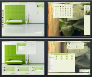 Gnome Shell 3.8  Panacea Green ( Lime and Olive ) by The-Panacea-Projects