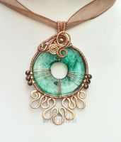 Aqua eye pendant by ukapala