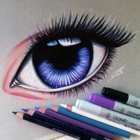 Realistic Manga Eye Drawing by LethalChris