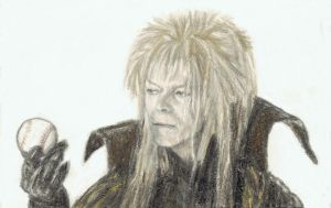 Jareth with a baseball by gagambo