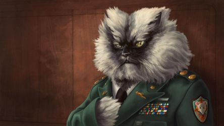 Colonel Meow - Wallpaper by AlixBranwyn