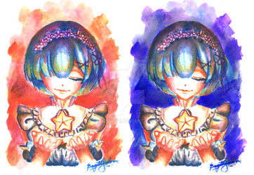 Rem's Wish at Sunset and Midnight by bearigitte