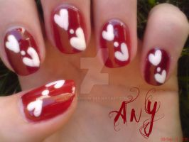 Hearts Nail Design by AnyRainbow