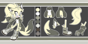 Amber the Fox Reference Sheet by SkywaySky