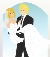 FF15 - Getting married [Prompto/Cindy] by Kaschra