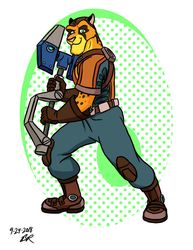 Jake Runner as Ratchet by RetroUniverseArt