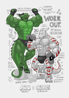 [COMMISION] Duo Muscle by Chirros
