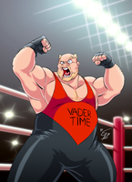 It's Vader Time (unmasked) by eltonpot
