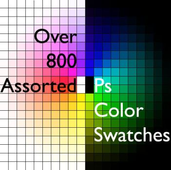 800 Assorted Color Swatches by Balcora