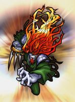FF9 - Flaming Amarant by thekeet