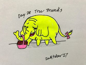 Inktober Day 28- Tree Trunks by Revenir-Ghoul