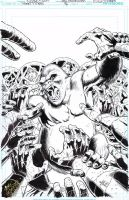 TEEN TITANS #96 Original Cover Art GORILLA GAR by DRHazlewood