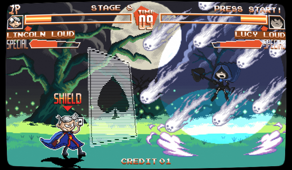 The Loud House fighting game mockup by ScepterDPinoy