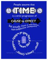 Wibbly Wobbly Timey Wimey Stuff Poster Doctor Who by Artfulexcursions