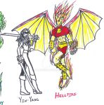 OC's: Yin Yang and Hellfire by Valor1387