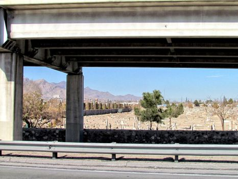 Cemetery under the freeway by whendt