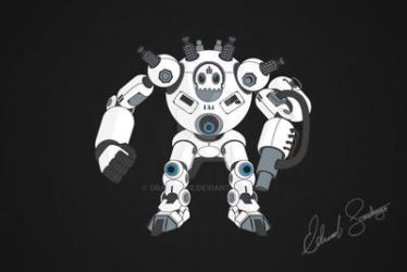 Robot Vector Illustration: Brute by Dragonis0