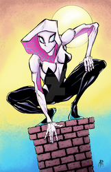Spider-Gwen Color by MentalPablum