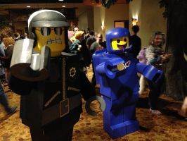 Benny Cosplay and Bad Cop Lego Movie by koisnake