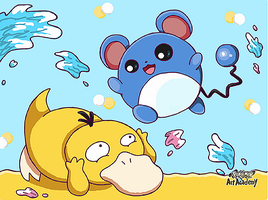 Psyduck and Marill