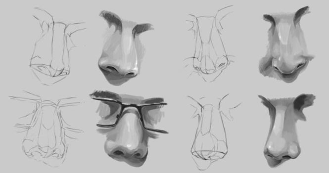 Nose Study by Tinnueleth