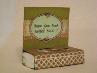 Get well soon Stand up card with Tissue pack by SeasonablyCute