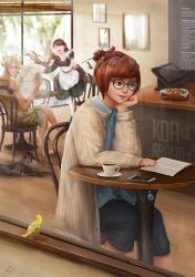 Overwatch - Mei Cafe by cheesewoo