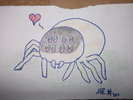 Cute Spider by Amikwa