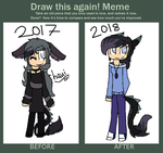 Draw this again meme: Haui by huskylaua
