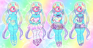 Candy Girl outfit set for Kiza by XenoBaby