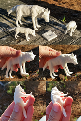 Digital sculptures 3D printed by Canis-ferox