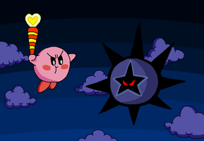 Kirby vs. the Dark Star by DarkBrawlerCF1994