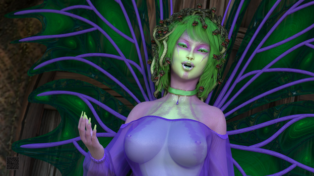 Fae Nymia 001 - Landscape - Bust by cwichura